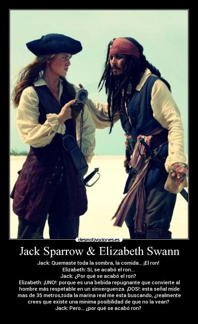 Jack Sparrow Elizabeth Swann Desmotivaciones