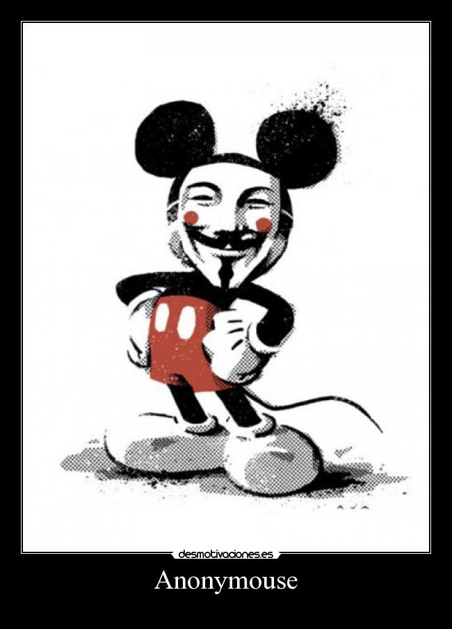 carteles anonymous mickey anonymouse walt_k desmotivaciones