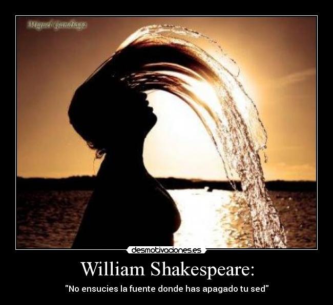 William Shakespeare Desmotivaciones