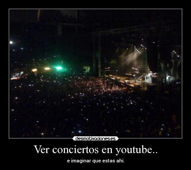 Ver conciertos en youtube.. - e imaginar que estas ahi.