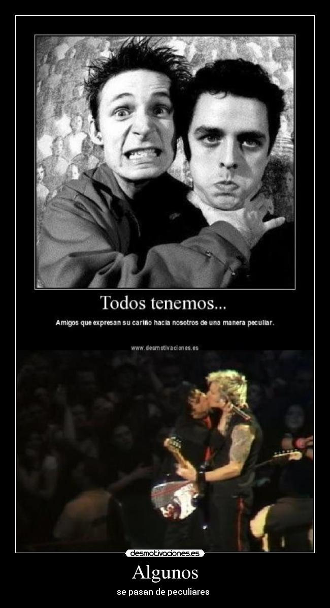 carteles billie joe armstrong mike drint expresan carino desmotivaciones