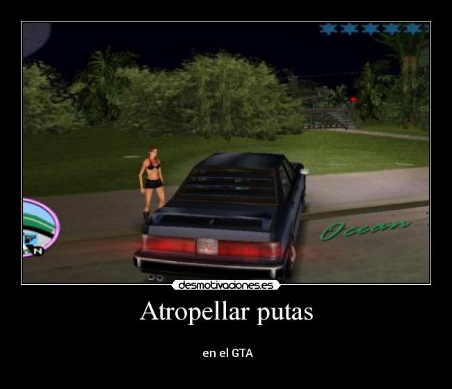 Atropellar putas -   en el GTA