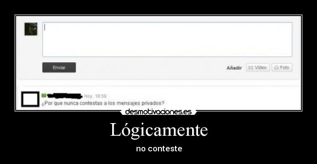 Lógicamente - no conteste