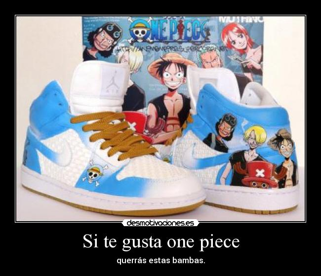 zapatillas one piece nike