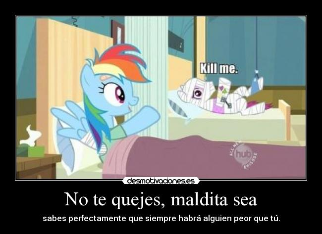 carteles little pony rainbow dash poni sin nombre hospital desmotivaciones