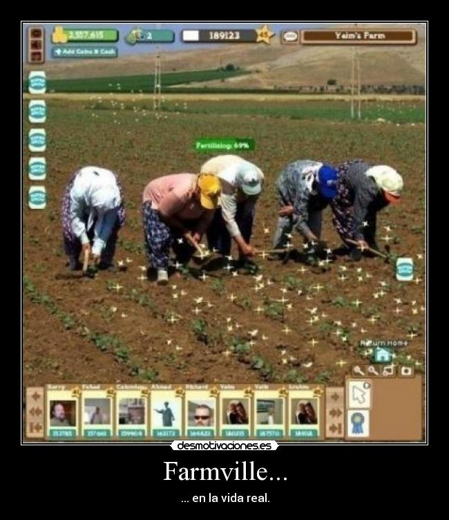 Farmville... - ... en la vida real.