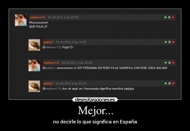 carteles peru chevere venezuela mentira espana hola llamo ralph  desmotivaciones 8a6c5cbfeaf