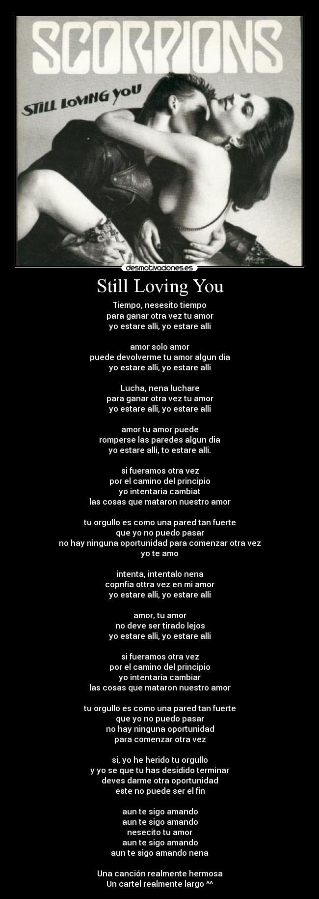 Letra de la cancion still love you en español