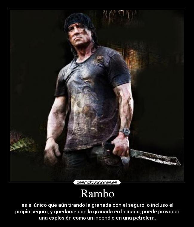 Imágenes Y Carteles De Rambo Pag 5 Desmotivaciones