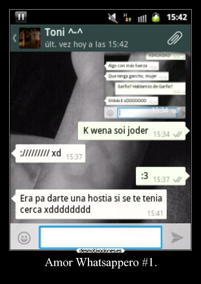 Amor Whatsappero #1. -