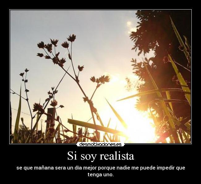 Si soy realista | Desmotivaciones