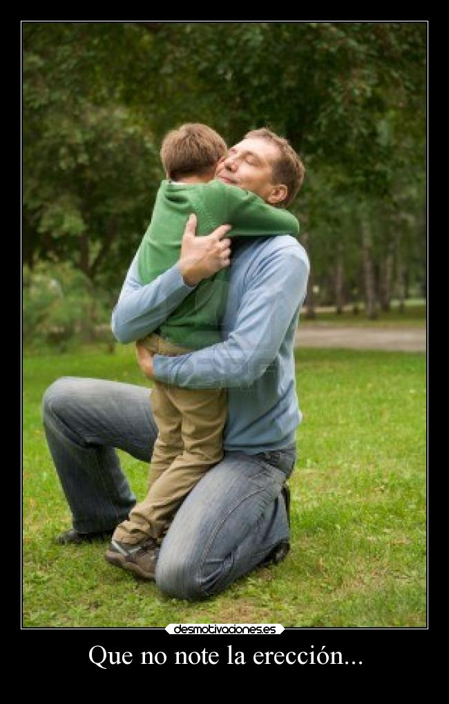 abrazo y erección