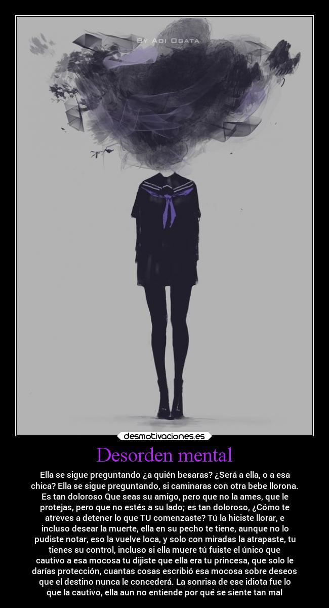 Desorden mental es que